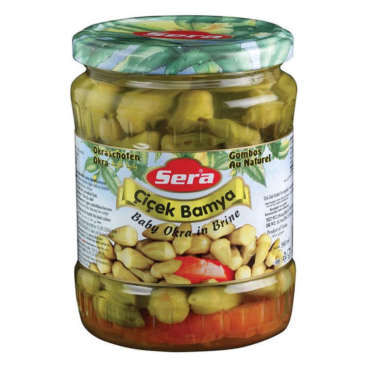 Baby okra konserverade från Sera. Produkt av Turkiet.