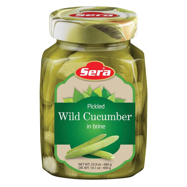 Inlagd midyat gurka (också känd som persisk gurka, armenisk gurka eller slanggurka) från Sera. Ser ut som en lång, ljusgrön gurka, men är egentligen en melon. Och smakar därefter. Rik på fiber, vitami