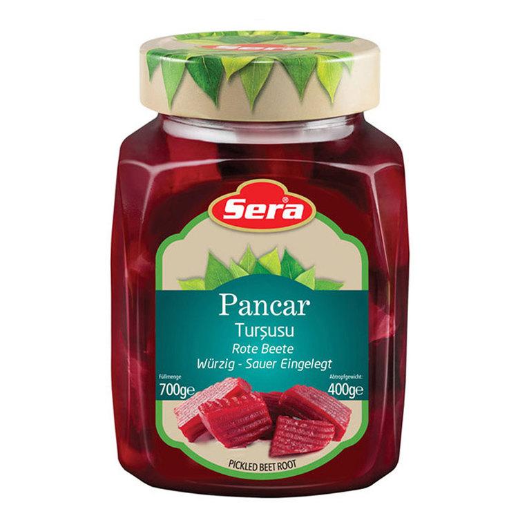 Inlagda rödbetor från Sera. Produkt av Turkiet.