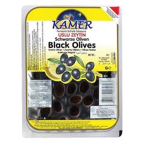 Svarta oliver vakuumförpackad -kamer 800g