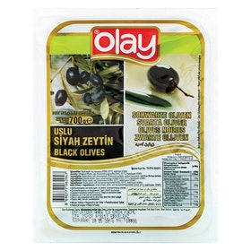 Svarta oliver Olay vakuumförpackad 700g