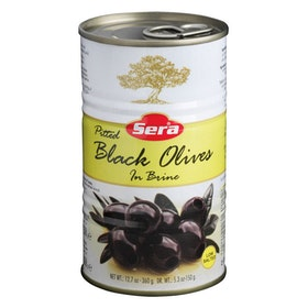 Svarta oliver utan kärnor - lättsaltade 360