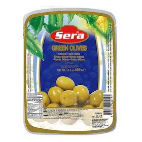 Gröna oliver vakuumförpackad 400g