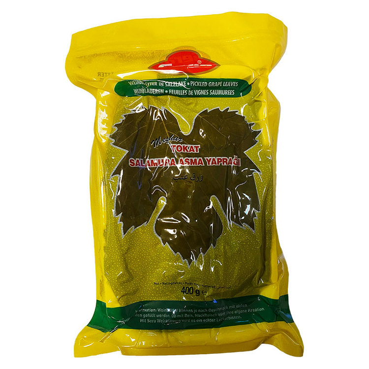 Vakuumpackade vinblad från Sera. Produkt av Turkiet.