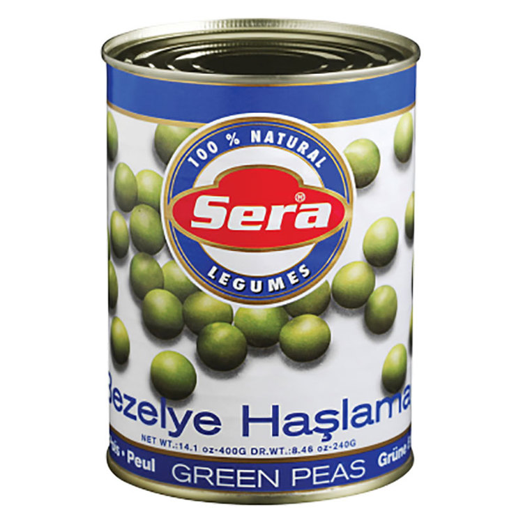 Konserverade ärtor. Färdigkokade så är de också världens bästa snabbmat, goda att ha i sallad, soppor & grytor. Produkt från Turkiet.
