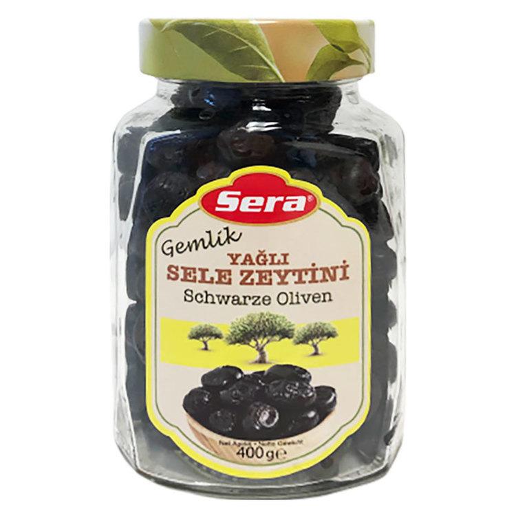 Gemlik sele svarta oliver från Sera. Produkt från Turkiet. Best Turkish Olives Products Brand.