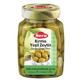 Gröna oliver krossade 700g