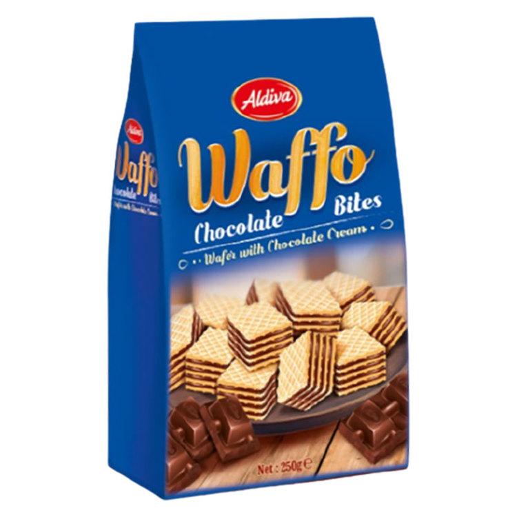 Wafers fylld med mjölkchoklad 75%. Produkt av Turkiet.