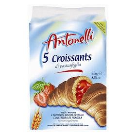 Croissant med jordgubbskräm fyllning