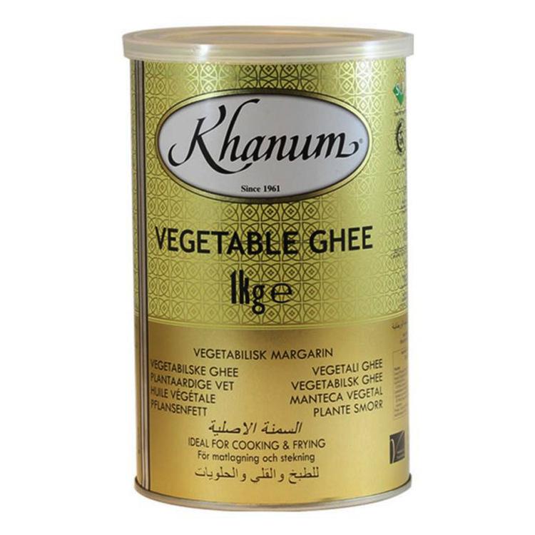 Khanum vegetabilisk ghee - klarat smör - skirat smör 1kg.