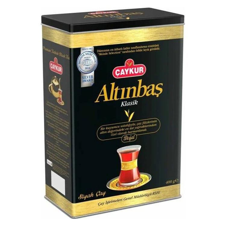 """Turkiskt svart te Altinbas i burk 400g - """"Två löv och en knopp"""" - denna speciella regel gäller även Altinbas-te, där endast knoppen och två yngsta löv av tebusken används. Altinbas te har en distinkt"""