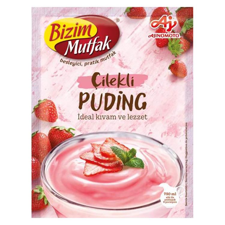 Jordgubbspudding från Ülker.