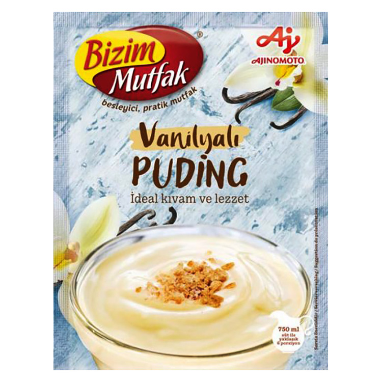 Supergod pudding till bakning eller bara servera som delikatess! Häll vaniljpuddingen i ett glas och ställ i kylen och låt stelna i ca 4 timmar. Toppa gärna med riven choklad och servera desserten kal