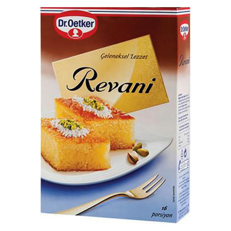 Revani är en traditionell turkisk mannagrynskaka. Med Dr. Oetkers Revani kan den enkelt tillagas och ger en garanti för läckra smaker.