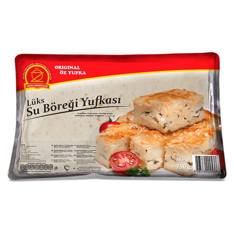 """10 halvrunda plattor av filodeg (yufka) med tillsatt ägg.  55cm x 29cm. Används speciellt för """"Su Böregi"""", men kan med fördel även användas till andra frasiga maträtter och bakverk."""
