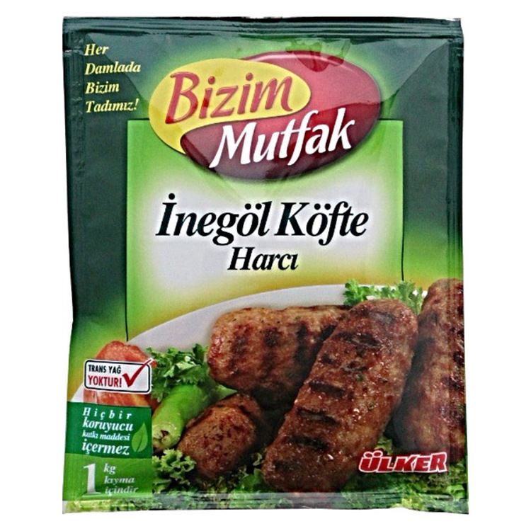 Blandade kryddor till turkiska inegöl köttbullar.