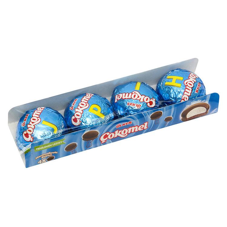 Cokomel - Kakor från Ulker med fluffig marshmallow och sprött chokladtäcke.