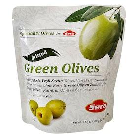 Gröna oliver - utan kärnor i påse