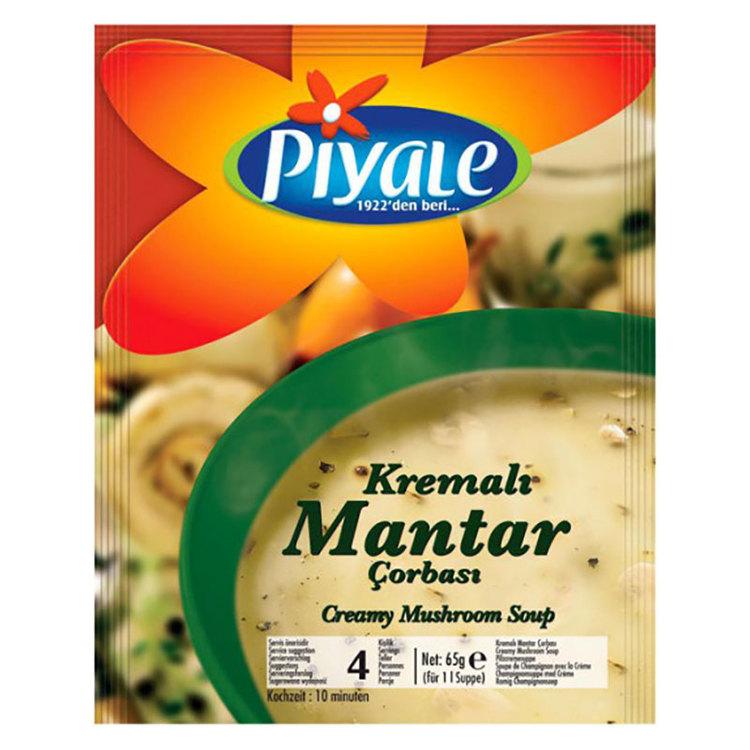 Svampsoppa med grädde från Piyale.