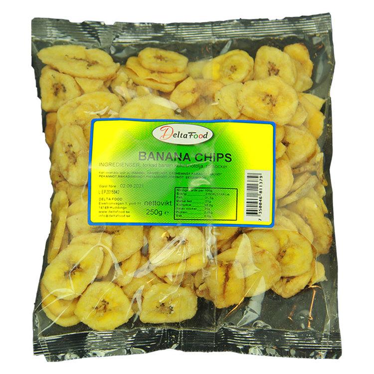 Torkad banan chips