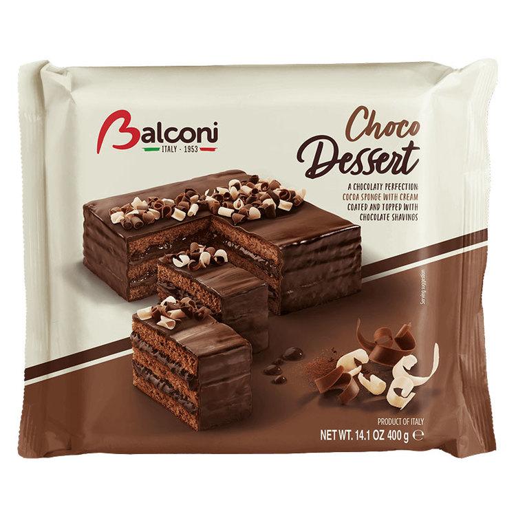 Balconi kakao tårta, en frestande sockerkaka med grädde, täckt och dekorerad med läckra vita, mjölk och mörka choklad krullar. Balconi kakao tårta är fritt från konserveringsmedel och GMO och är det p