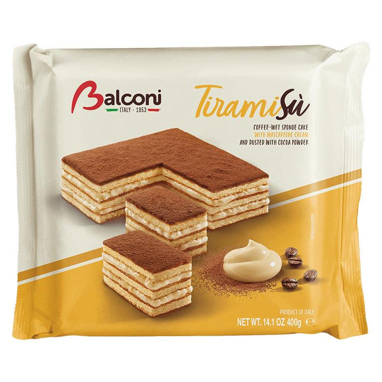 Tiramisù, ett nöje att dela: Mascarpone-krämfyllning och chokladbelagd sockerkaka. Tiramisù är fri från konserveringsmedel och GMO och är det perfekta valet för ett utsökt, kvalitetsmellanmål. Produkt
