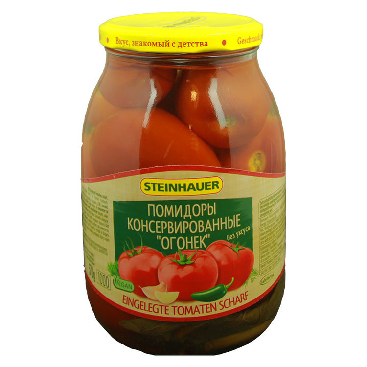Tomater inlagda och starka - Ogonek.