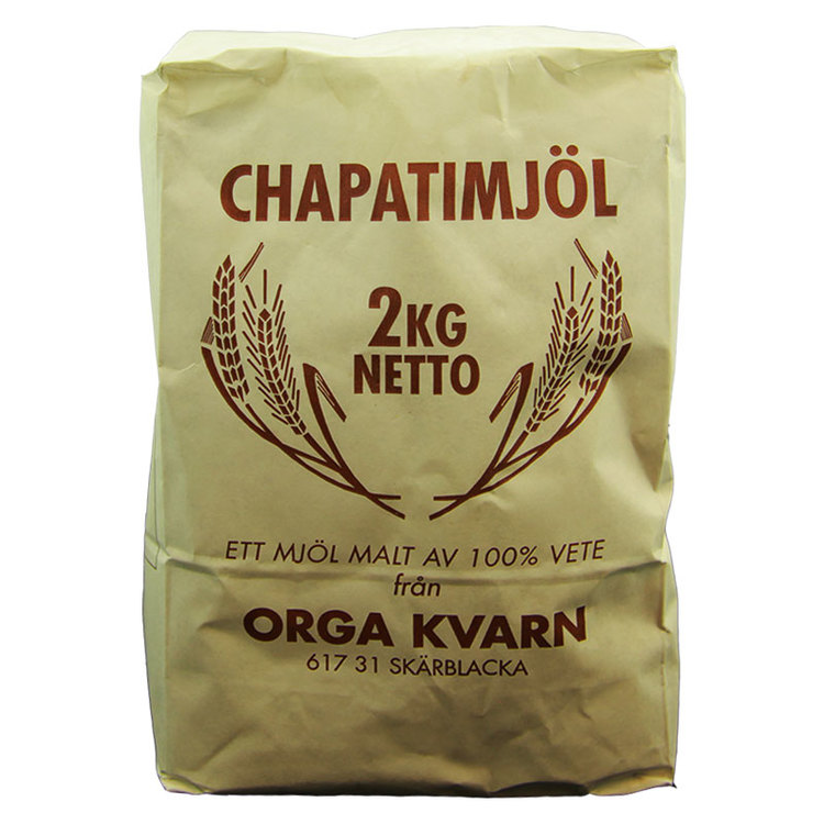 Ett mjöl malt av 100% vete från Orga Kvarn. Innehåller gluten.