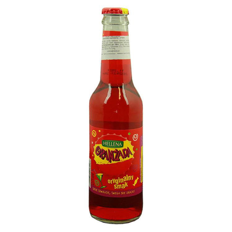 Hellena Oranżada red är en kolsyrad dryck med en original arom. Den röda färgen skapas av det svarta morotfärgningskoncentratet och saflorekstraktet. För många människor är smaken av Oranżada Hellena