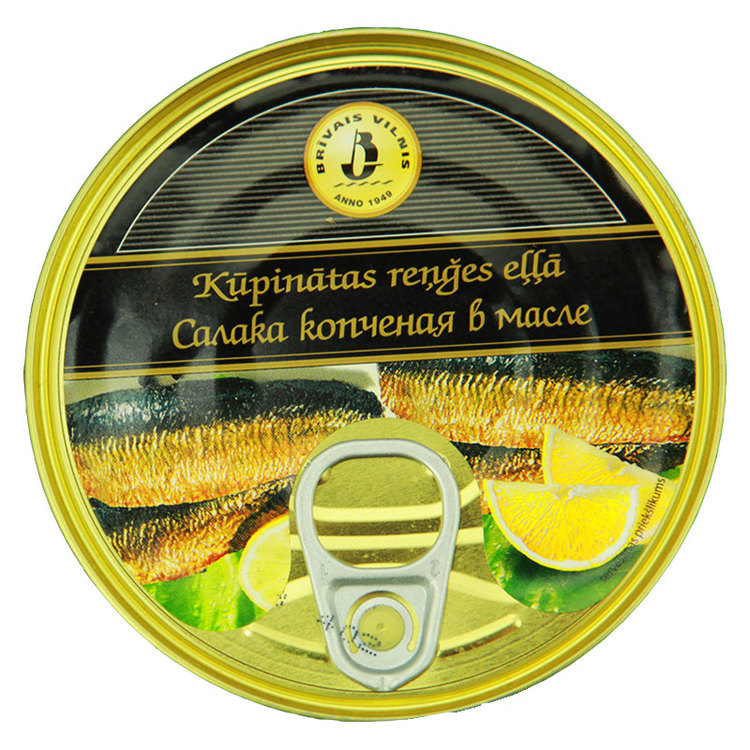 Rökt baltisk sill. Produkt av Litauen.