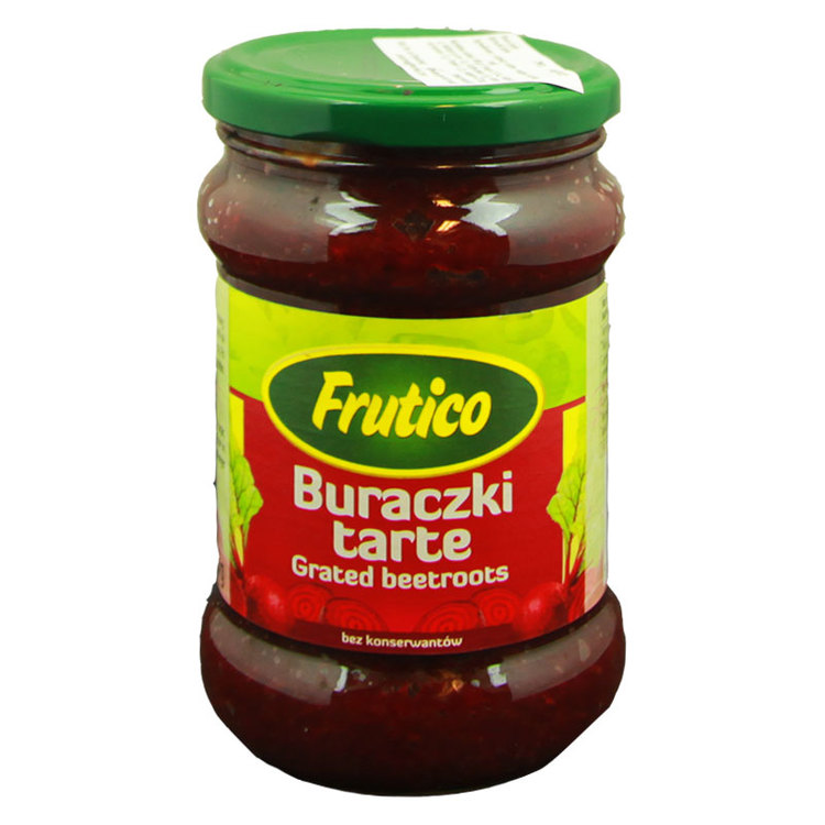 Frutico riven rödbetor. Produkt av Polen.