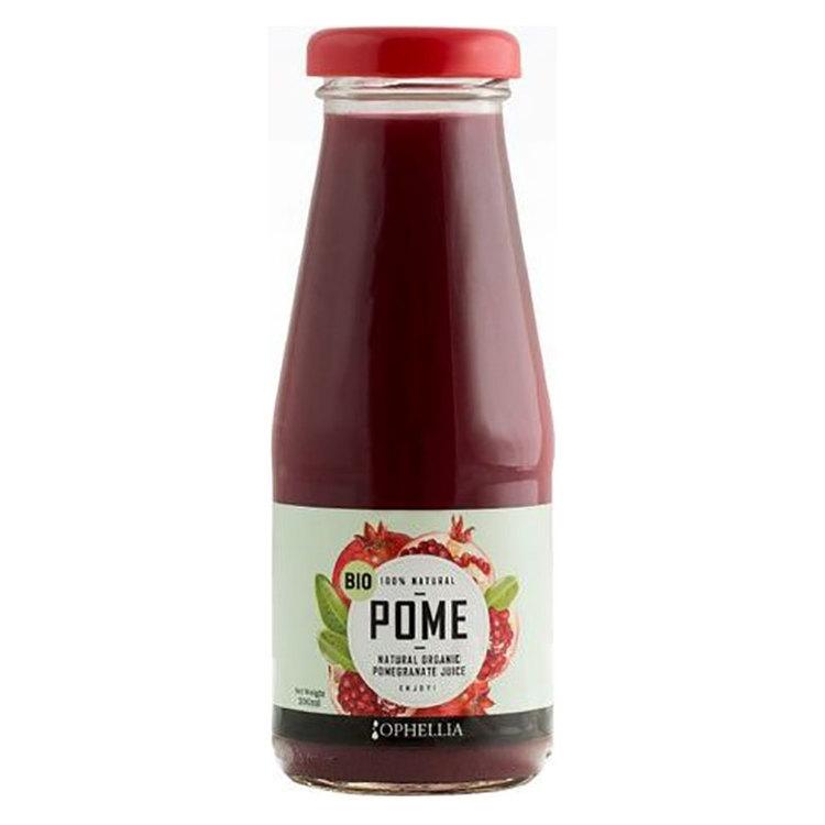 100% naturlig granatäpplejuice, utan färgämne, utan konserveringsmedel, utan gluten, utan tillsatt socker. Stöder hälsosam kardiovaskulär funktion. Främjar ett hälsosamt immunsystem och bekämpar urinv