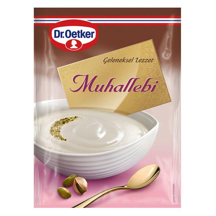 Den turkiska efterrätten mjölkpudding muhallebi från Dr.Oetker..
