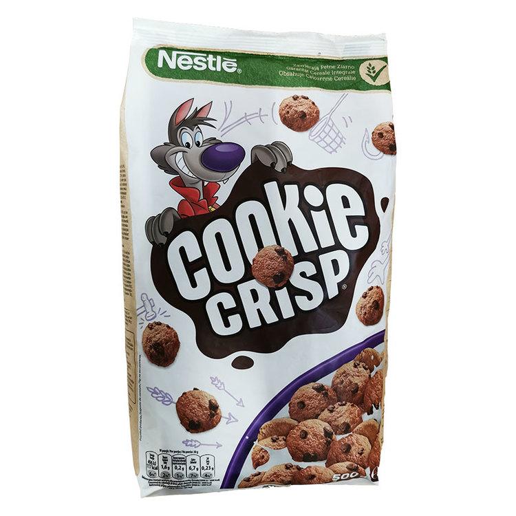 Nestle spannmål med chokladsmak - krispigt vete och majsspannmål med chokladsmak. Fri från färgämne, Fri från smakämne, Fri från konserveringsmedel.