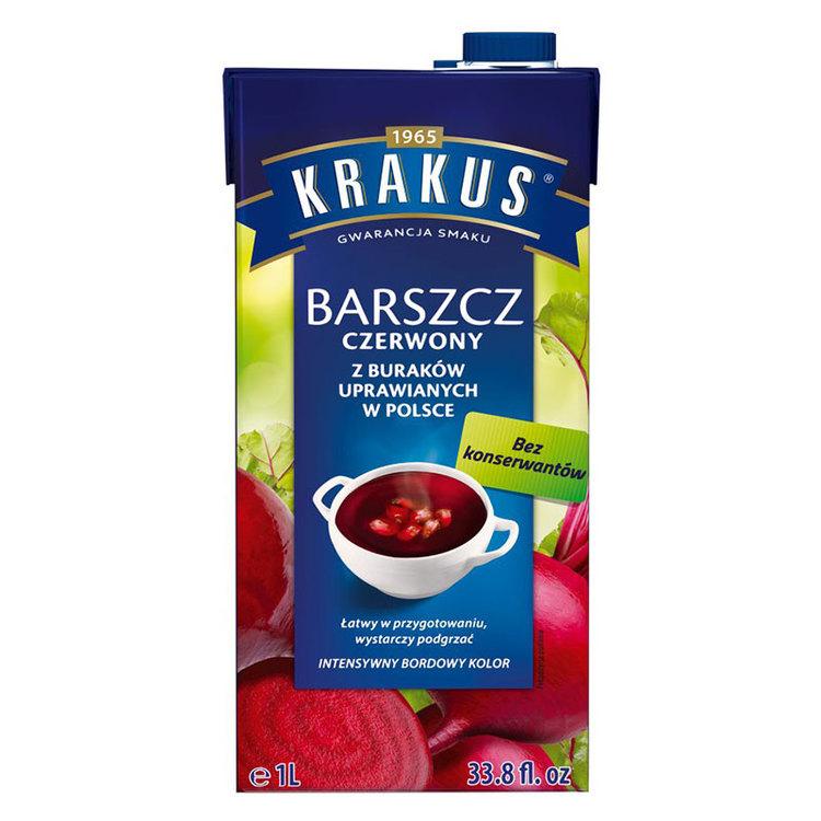 Rödbetssoppa - barszcz - borsjtj är smaken av polsk julafton. Krakus borscht är baserad på koncentrerad rödbetasaft utan konserveringsmedel och är en utsökt soppa som du förtjänar inte bara vid specie