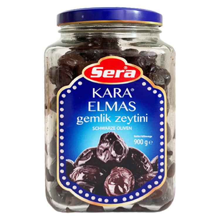 Svarta oliver från Gemlik. (900g)