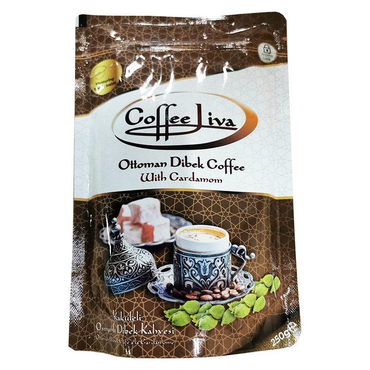 Dibek kaffe kommer från ottomanska smaker. Denna unika smak från den ottomanska kulturen ger dig en annan kaffeupplevelse än klassisk Turkiskt kaffe. Den innehåller Arabisk medium stekt kaffe, kaffe g