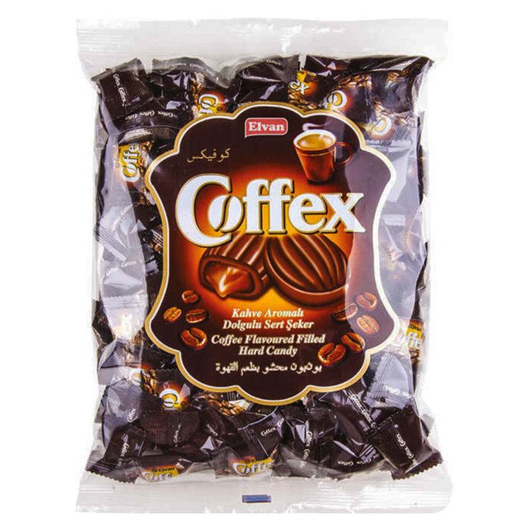 Coffex karameller med utsökt fyllning av kaffesmak.