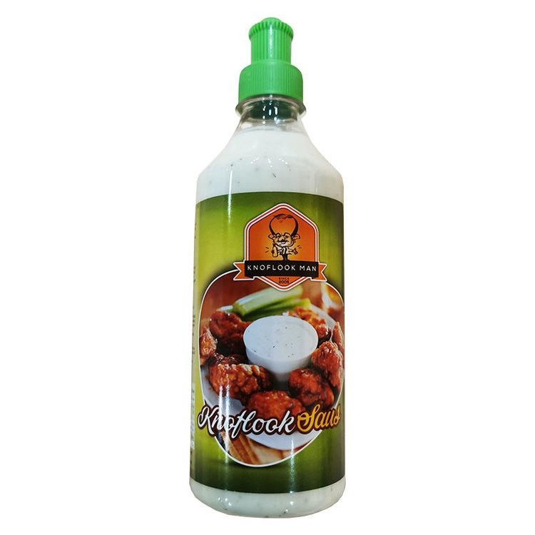 Vitlökssåsen är krämig och i perfekt harmoni mellan sötma och syra.