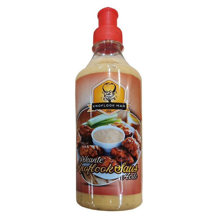 Stark vitlökssåsen är krämig och i perfekt harmoni mellan sötma och syra.