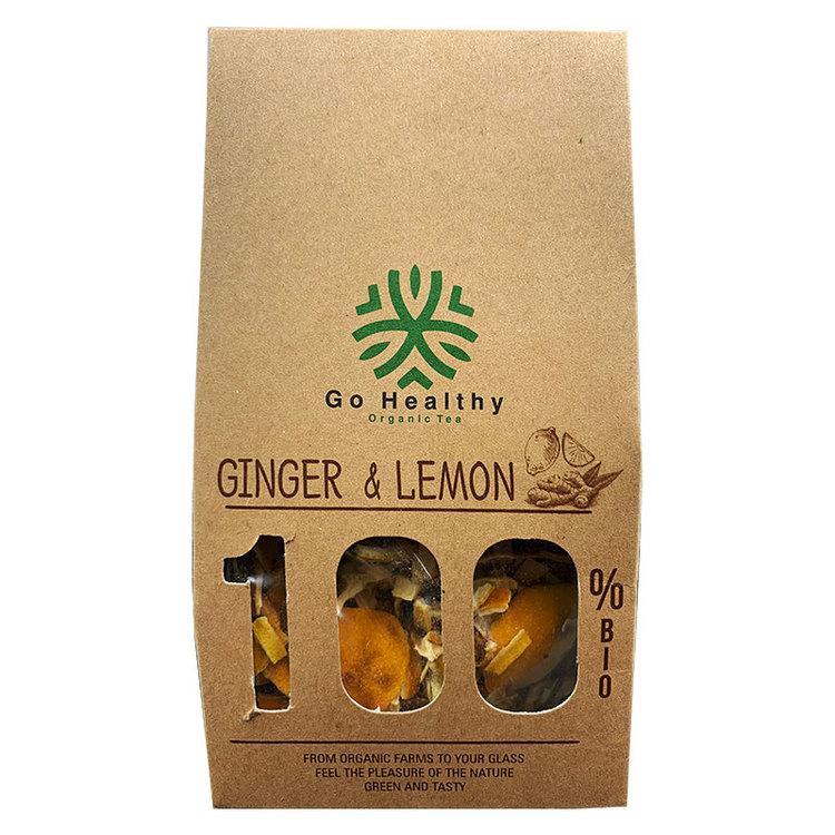 100% naturliga, och bio lösvikt ingefära & citron te. Produkt av Kosovo.