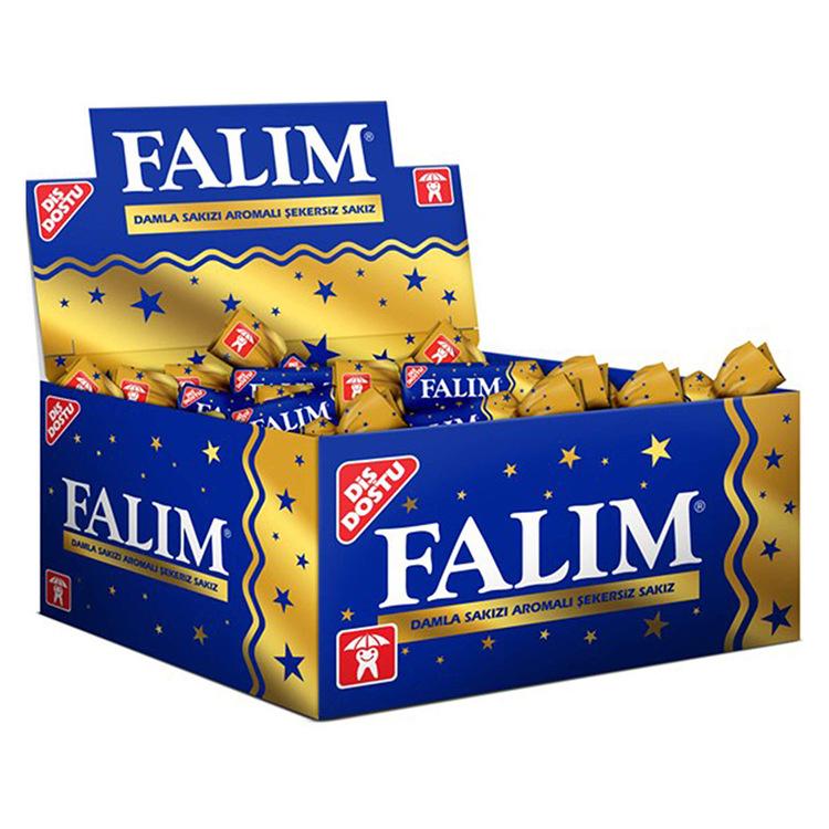 Sockerfri tuggummi med mastix från Falim. Mastix är ett unikt harts som kommer från ett träd som odlas i Medelhavet. I århundraden har hartset använts för att förbättra matsmältningen, munhälsa, och l