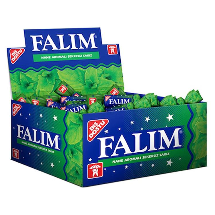 Sockerfri tuggummi med mintsmak från Falim. Med smaken av mynta får du en god och uppfriskande smakupplevelse.