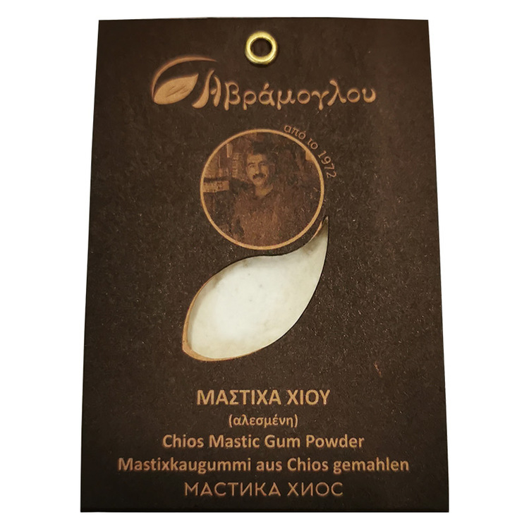 Mastix har traditionellt använts som krydda för festliga bröd, briocher,  kakor, glass osv. Moderna grekiska kockar har visat att denna krydda med sin unika aromatiska, trä - och tall - liknande, exot