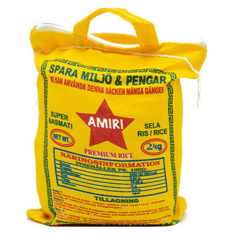 Amiri Super Sella Basmatiris 2kg - Sedan 2004 har Amiri riset tagits fram med omsorg och med fokus på kvalitet och smakupplevelse. Genom många tester och utvecklingsprocesser har man till slut hittat