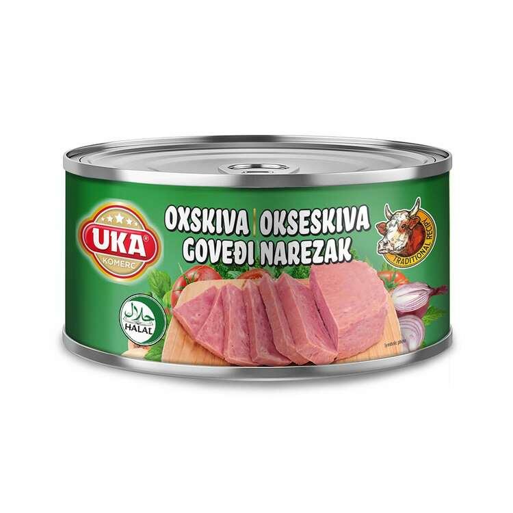 Konserverat oxkött skiva . Steriliserat konservburk. Förvara på en torr plats och vid rumstemperatur. Efter öppning förvaras i kylskåp och bör förbrukas inom 24 timmar.