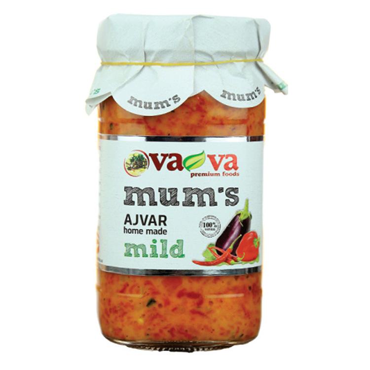 Mum's ajvar - mild. Inget tillsatt konserveringsmedel. Glutenfri och GMO-fri