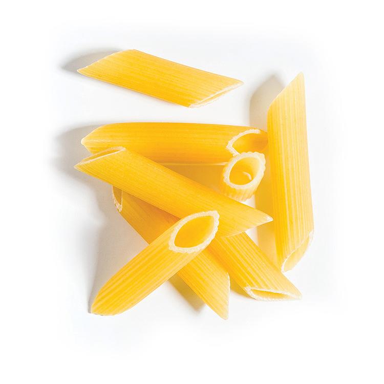 Mutlu Pasta penne är framställd av utvald grovkornad hård durumvete semolina enligt de italienska normerna. Pasta som produceras med denna typ av semolina har en fast (Al Dente) struktur, högsta kvali