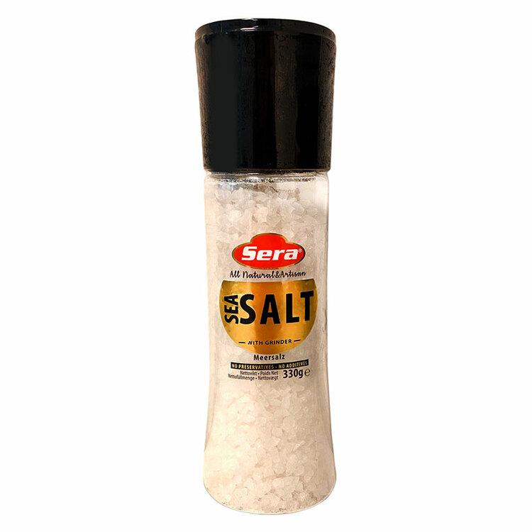 Havssalt i saltkvarn 330 g.