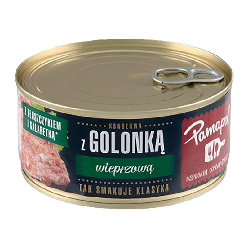 Polsk konserverad fläsklägg. Serveras kyld med tillägg av bröd. Passar även utmärkt till surkål och senap.
